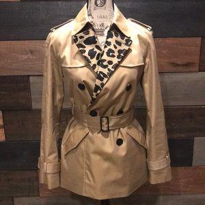 Coach Ocelot Leopard Short Trench Coat
